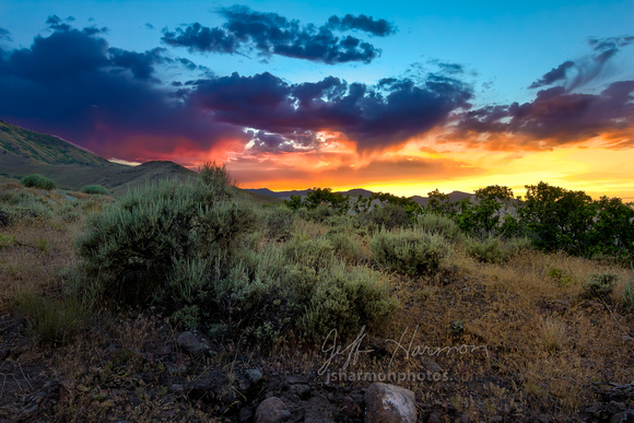 Desert Sunset Herriman Foothills